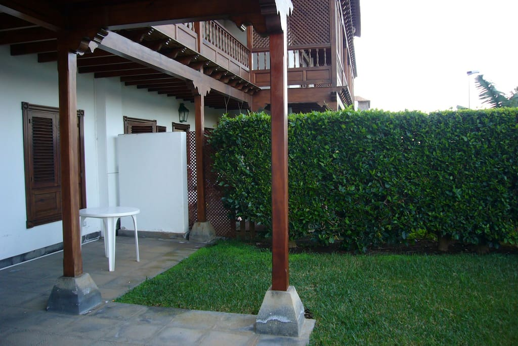 Private terrace and garden