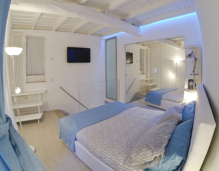 Modern apartment in ancient context