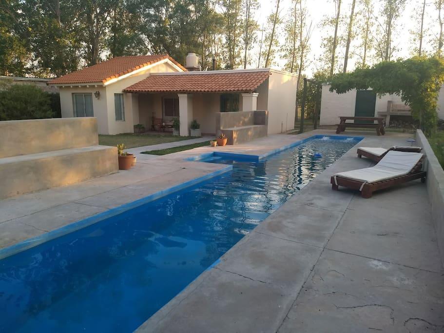 Enjoy the pool and cabana