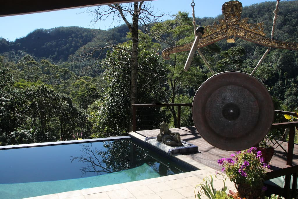 The stunning view over the valley from your private day spa
