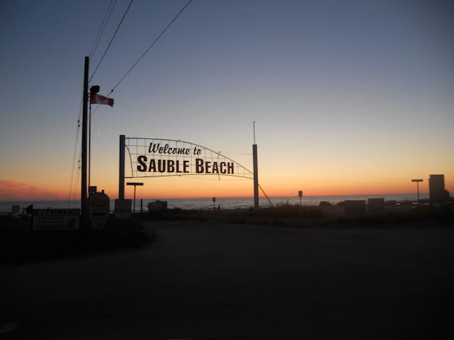 Welcome to Sauble Beach and spend the day on the sand.
