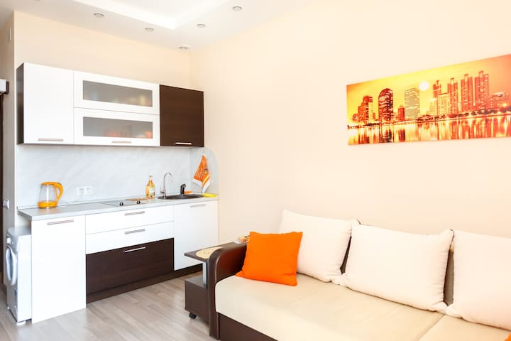 Studio apartment near metro. Business class house - Moscow - Apartemen