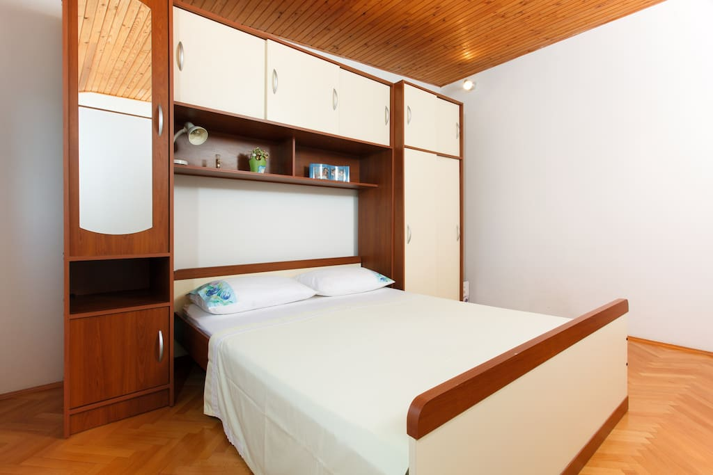 Bedroom no.1. Comfortable double bed.