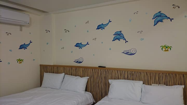 陽光假期4人房可沖浪,釣魚,賞鯨,飛行傘,風景優美