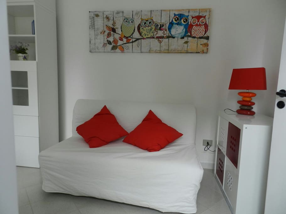Living room, con il divano letto