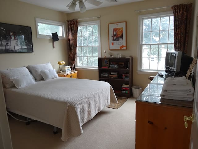 Comfortable Bedroom with Full Size Bed.