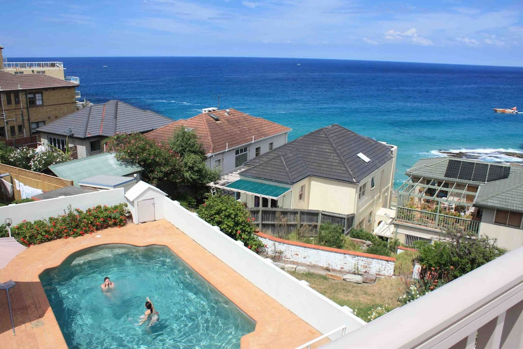 View of Tama  Beach House's private swimming pool