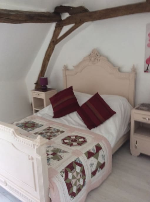 Double bedroom with antique french bed
