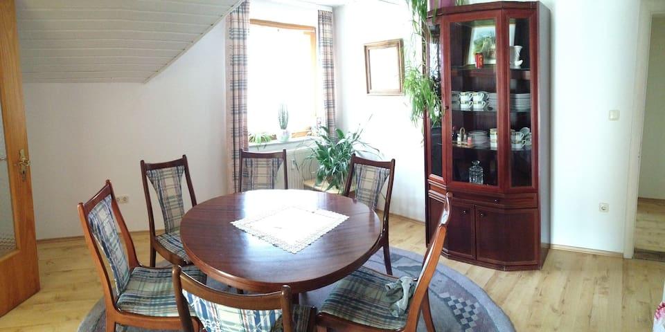 Große Ferienwohnung mit Traumblick - Schmidmühlen - Apartamento