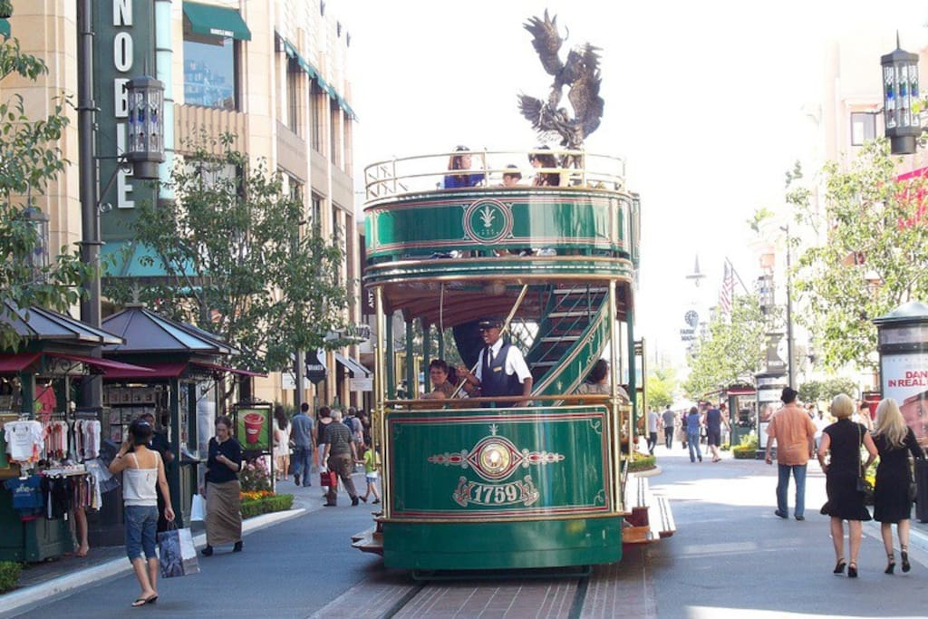 Take a ride on the Trolley when you walk across the street to The Grove!