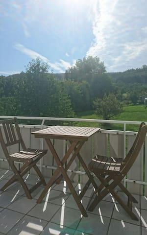 Ruhige Wohnung Nähe Backnang, Blick auf Waldrand - Allmersbach im Tal - Byt