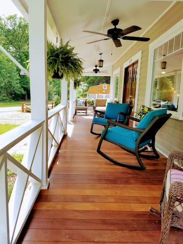 Listen to the stream while lounging on the porch