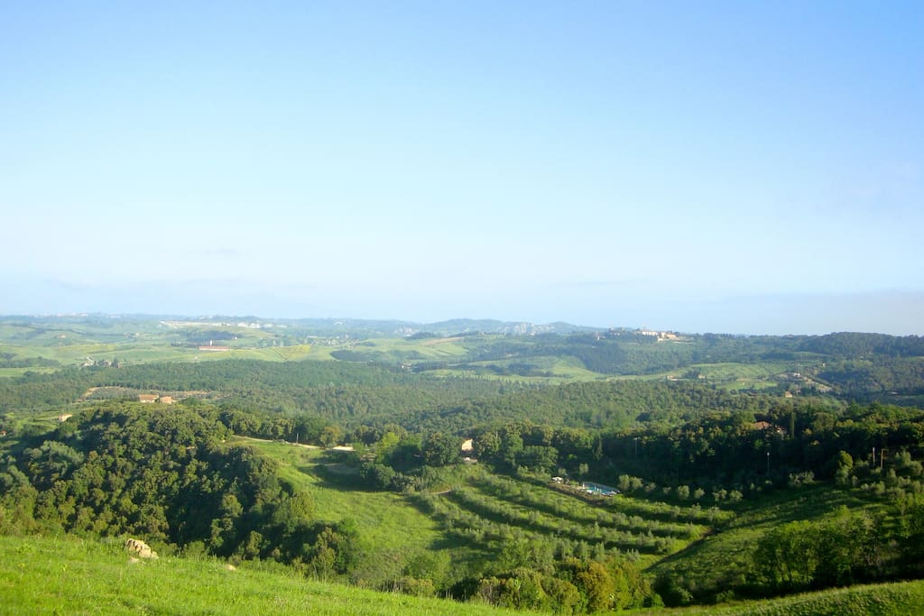 View over Agriturismo Le Capanne