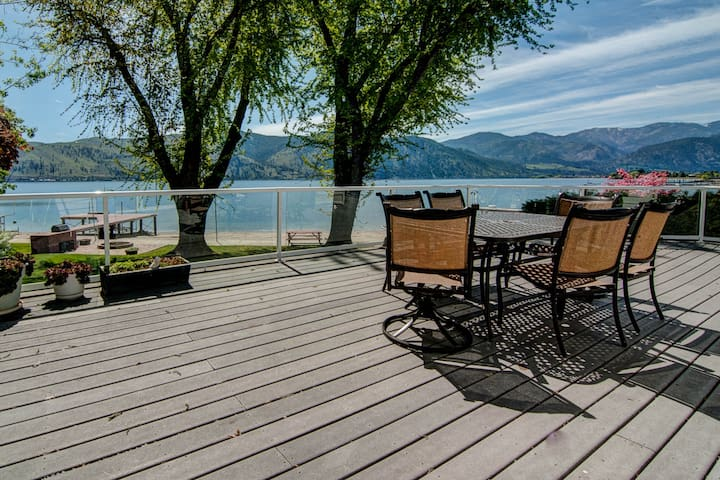 Lakefront home with a private dock, firepit, views, and more!