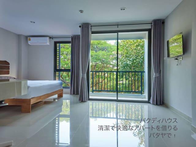 Central of Pattaya Comfy studio room 1.8k to beach
