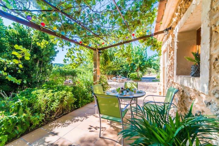 ☼Sinia: gemütliche Finca, grosser Garten,strandnah