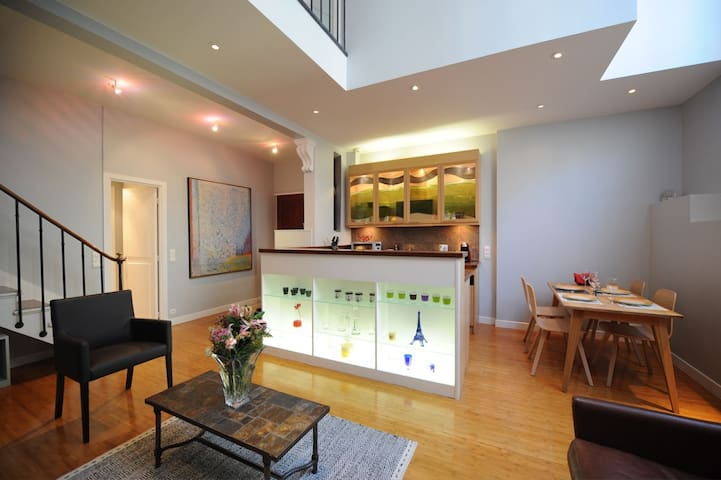 Living-room with the Kitchen