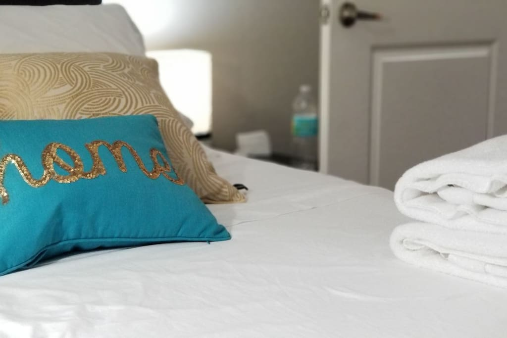 Close up of the Linens