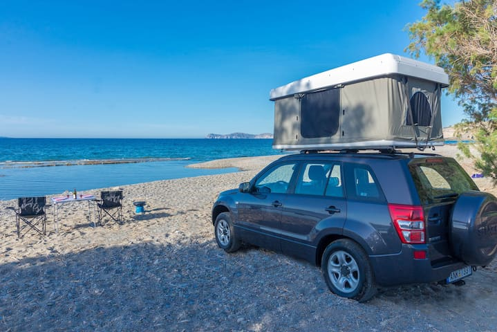 Discover Crete on a 4X4 with Roof Tent