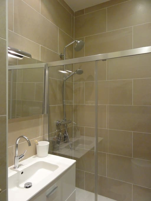 Enjoy the large shower and the spa equipment !