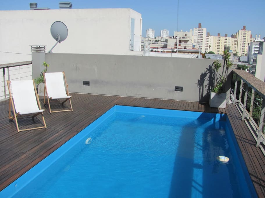 Rooftop Pool with deck. Open view to Palermo Hollywood