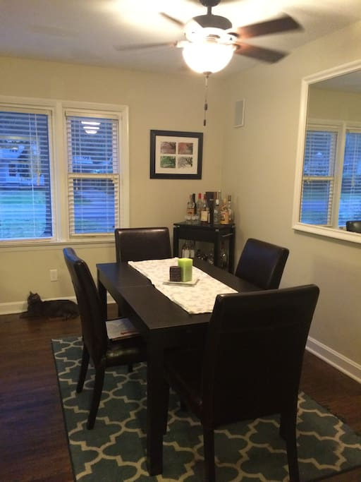 Dining room (table extends to fit 6)