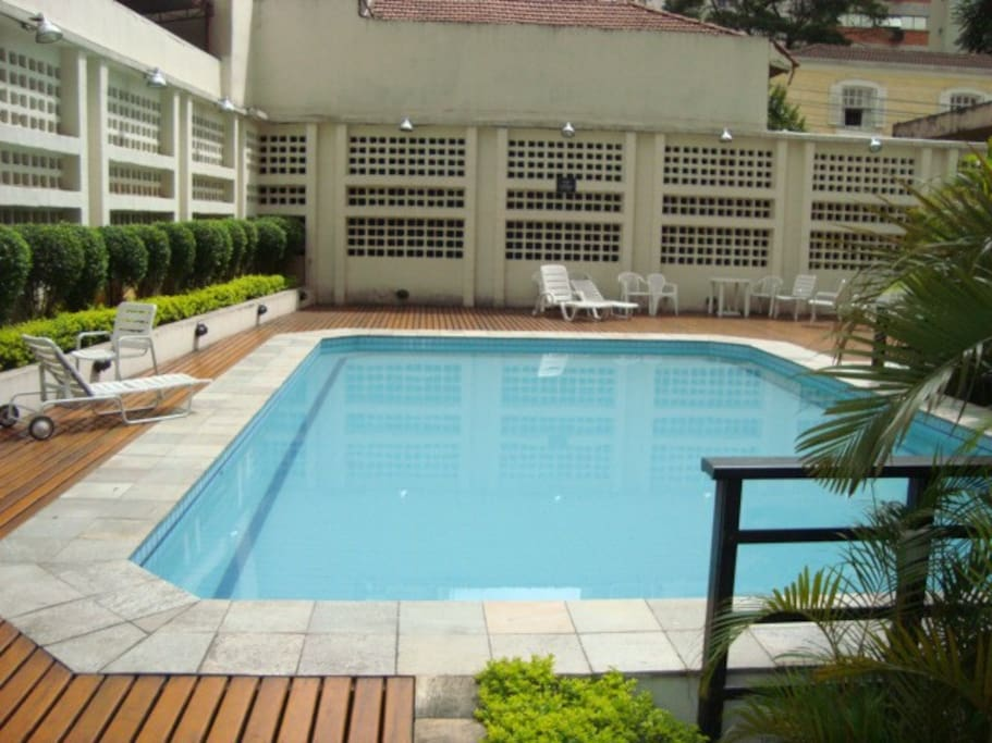 The pool, which you can freely use during your stay