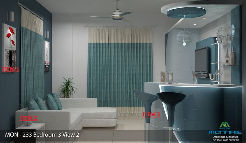 Brand new apt at 15 flr with scenic view and pool. - Thrissur - Apartment