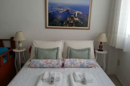 Cozy 1 bedroom, Wi-Fi, Cable TV, 24 hour doorman, building safe.  Sleeps 4 comfortably.  Easy access bus and taxi to Copacabana, Christ Redeemer and Sugar Loaf; subway is close.