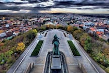 Vítkov national monument - maybe the best view on Prague (15 mins walk)