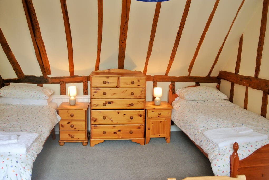 Relax in your room with 17th Century exposed beams