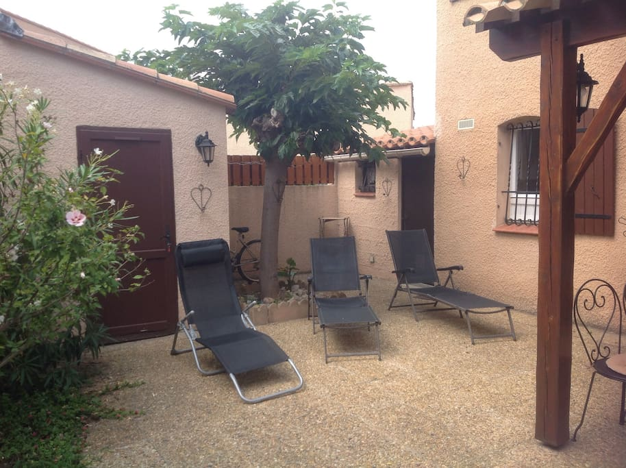 Total privacy in our spacious courtyard