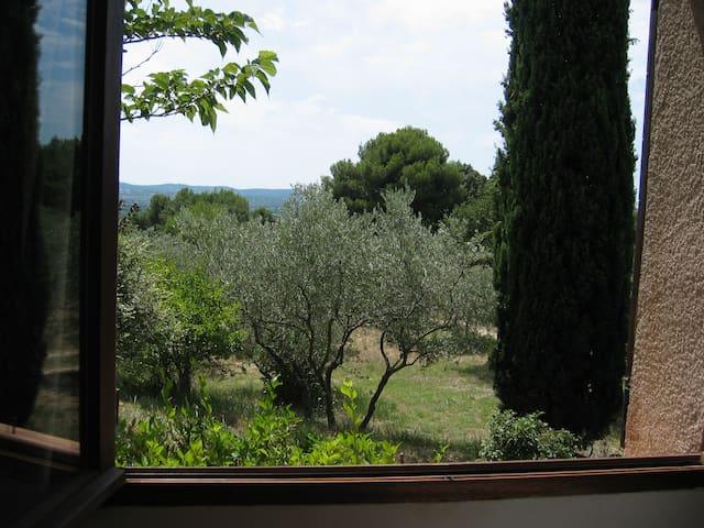 Chambre double avec vue dans les oliviers - Mérindol