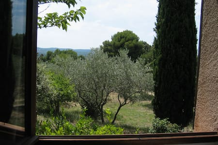 Chambre double avec vue dans les oliviers - Mérindol - Huis