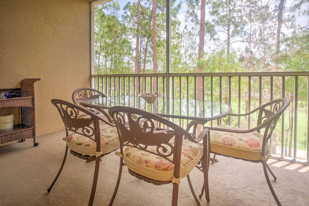Look forward to relaxing on the private balcony.
