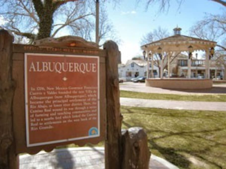 ABQ's Historic Old Town (Driving from the home to old town is 1.5 miles, walking from the home, since there is a shortcut is about .5 of a mile)