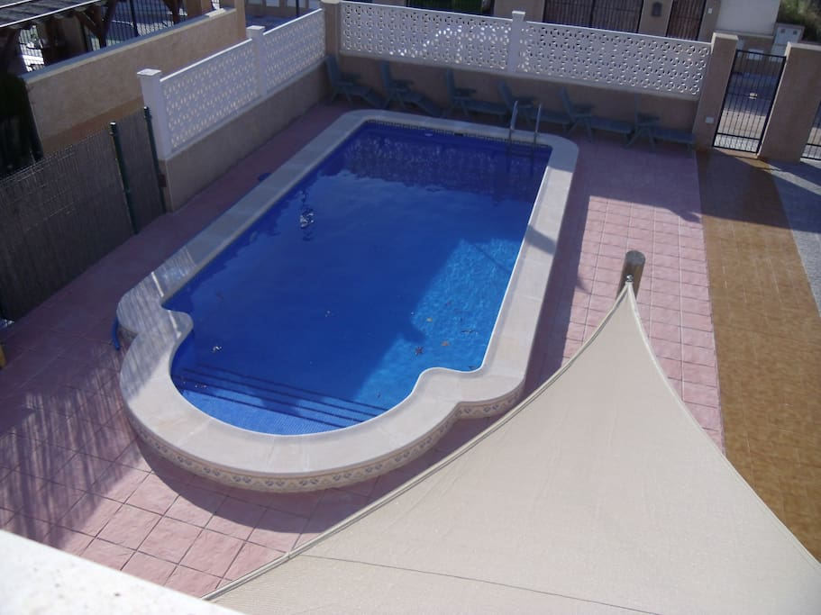 Private pool in enclosed grounds