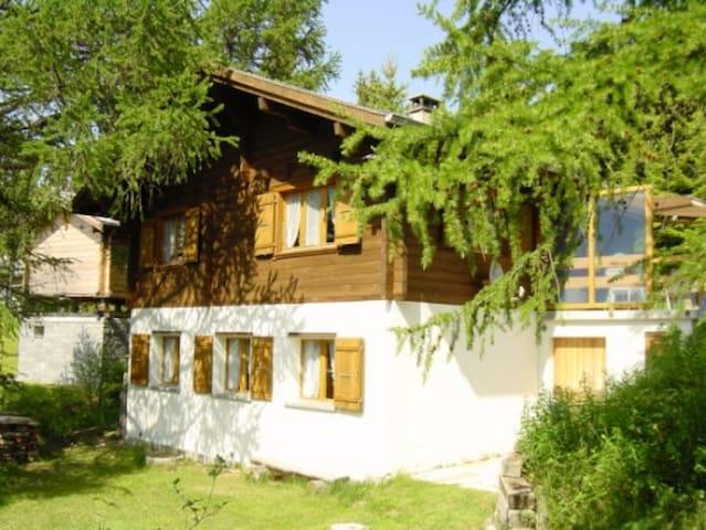 Chalet an herrlicher, ruhiger Lage - Bürchen - Huis