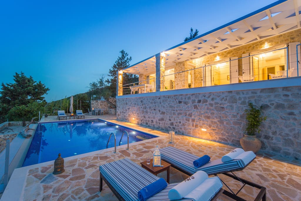 Swimming pool and the villa