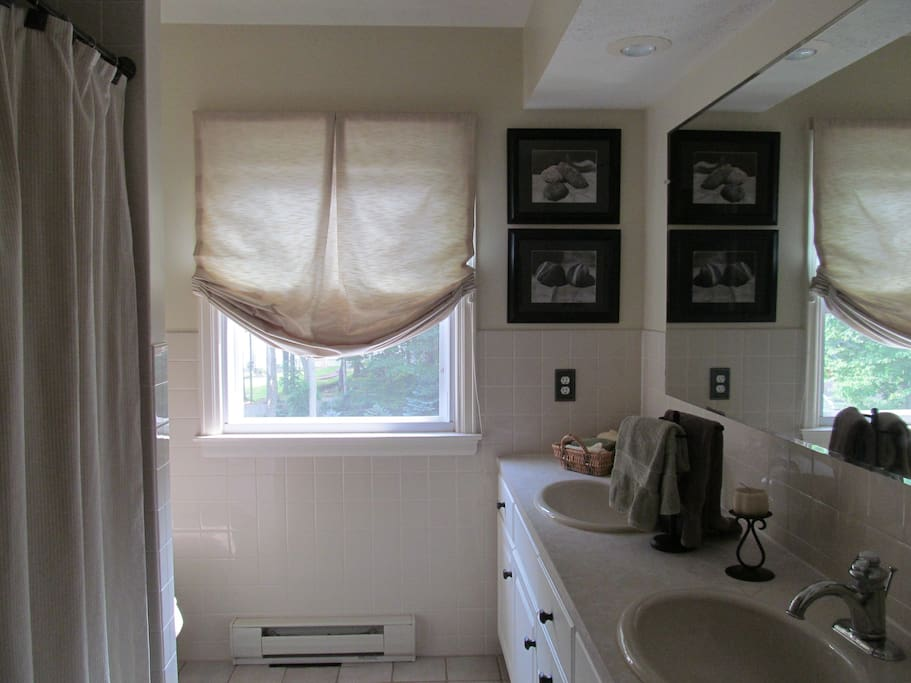 Private bath down the hall- double sinks!