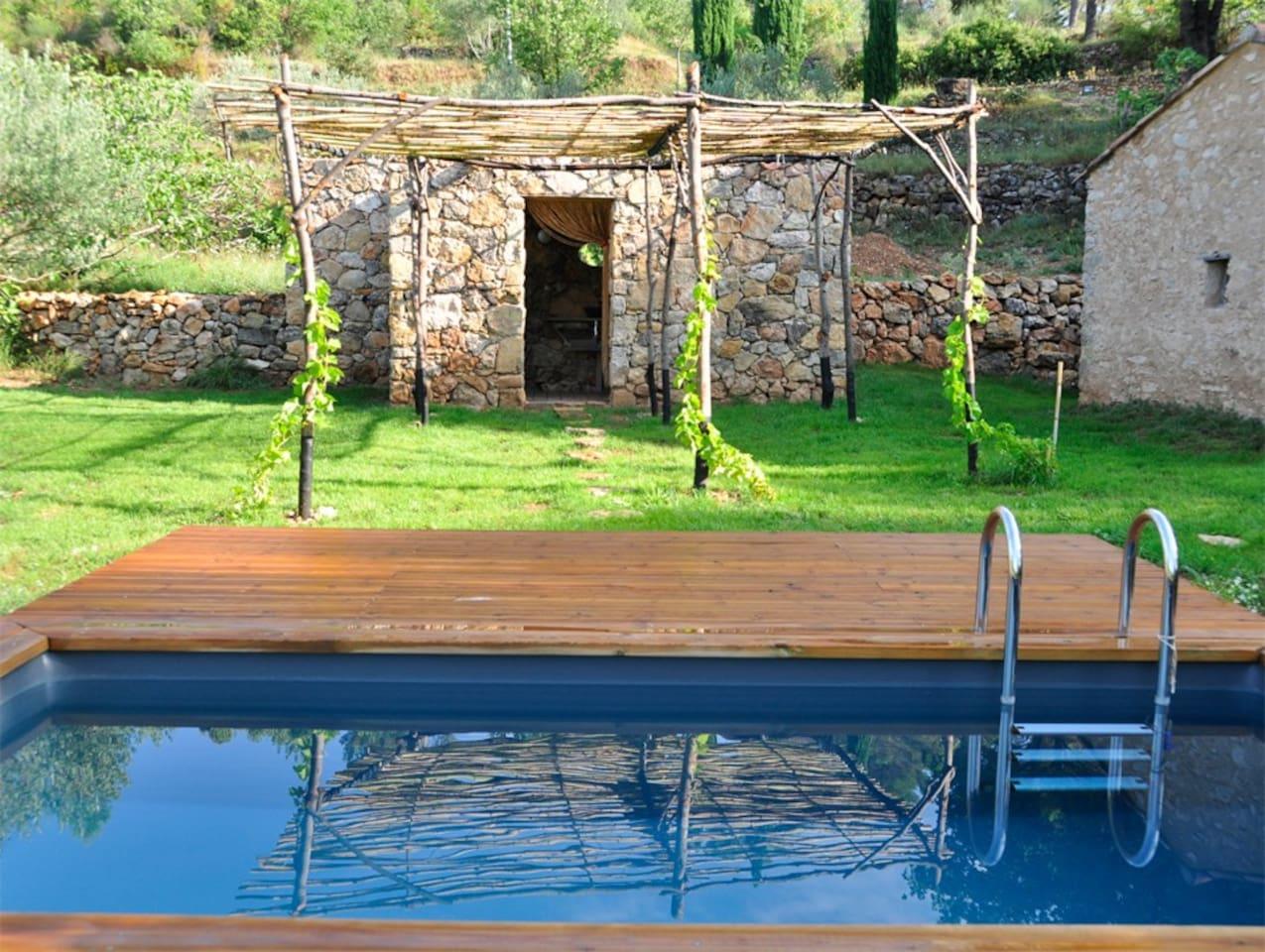 Piscine, terrasse et tonnelle