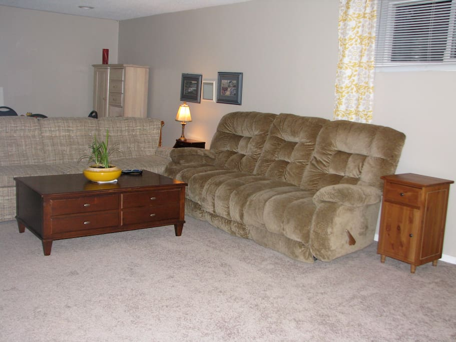 living room to share with guests only