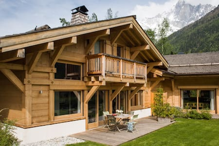 Beautiful chalet Arolles. Top view - Chalet