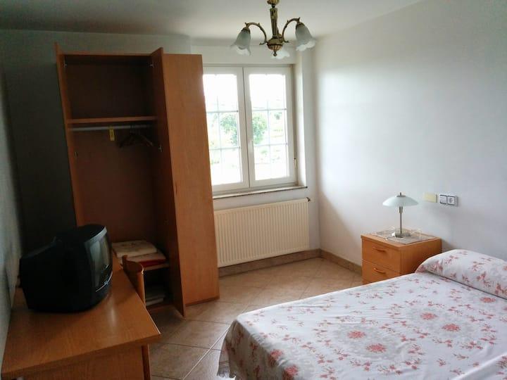 En suite room overlooking Coruña