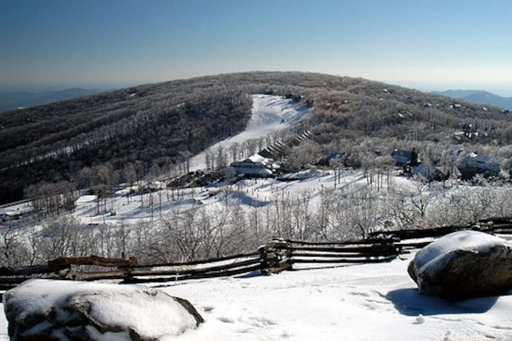 Wintergreen Ski Slope-- down the road from our house.