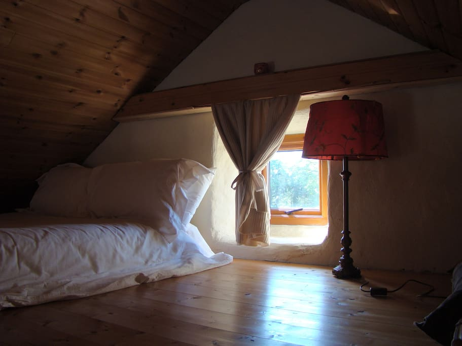 Cosy bed with hill views
