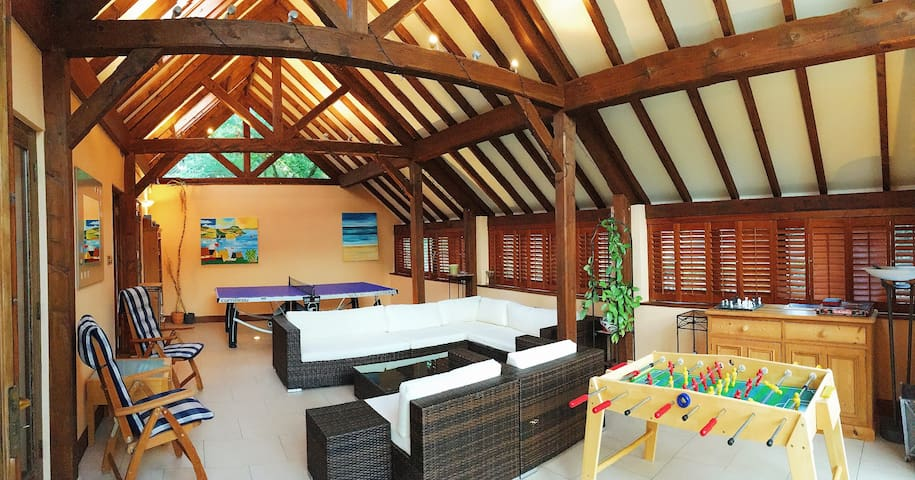 Gorgeous, modern games room. Perfect for relaxing and having fun - for adults and children alike!
