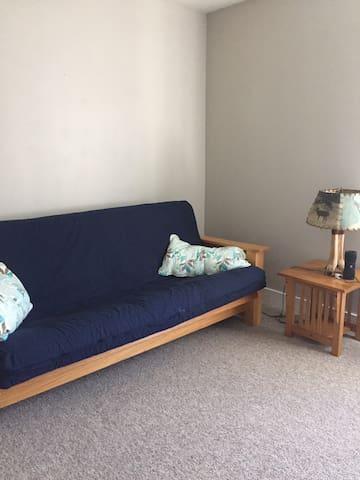 Full size futon in living room