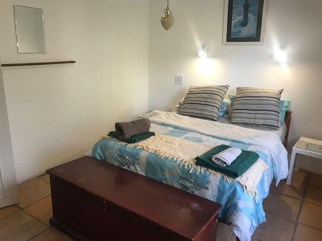 Room 2 - double bed shared bathroom