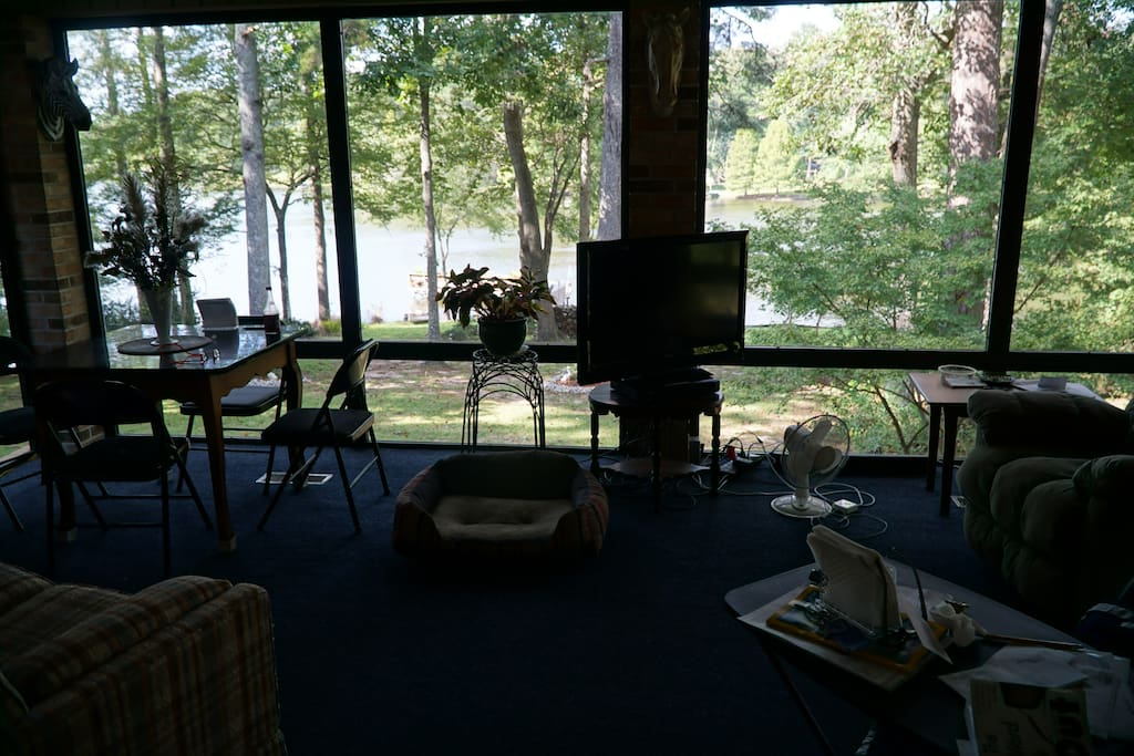 Lake View from Sun-room.